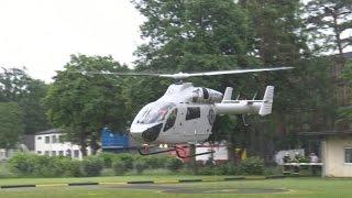 Air Rescue 3 Luxembourg Air Rescue startet an Hubschrauberlandeplatz der Uniklinik Bonn