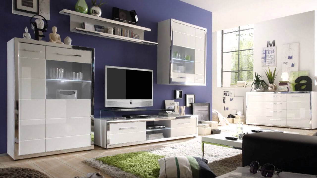 jumbo m bel discount wohnwand hochglanz youtube. Black Bedroom Furniture Sets. Home Design Ideas