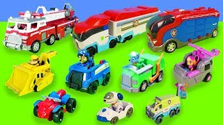 1 hour of fun with Paw Patrol: toy cars, fire brigade, Paw Patroller | toys for children