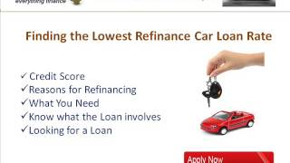 Lowest Refinance Auto Loan Rates