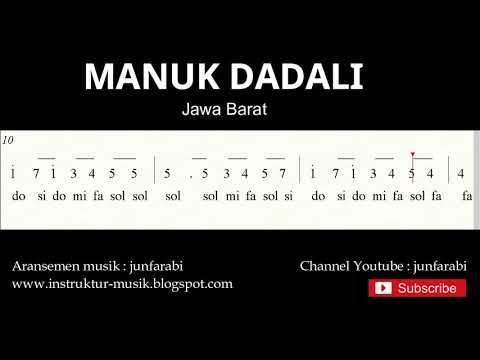 Not Angka Manuk Dadali - Lagu Daerah Tradisional Nusantara Indonesia - Solmisasi