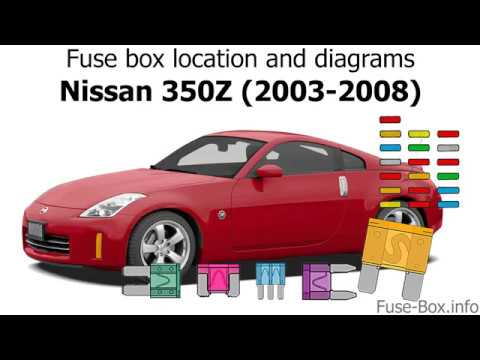 Fuse box location and diagrams: Nissan 350Z (2003-2008) - YouTubeYouTube