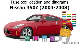 Fuse box location and diagrams: Nissan 350Z (2003-2008) - YouTube | 2008 350z Engine Diagram |  | YouTube