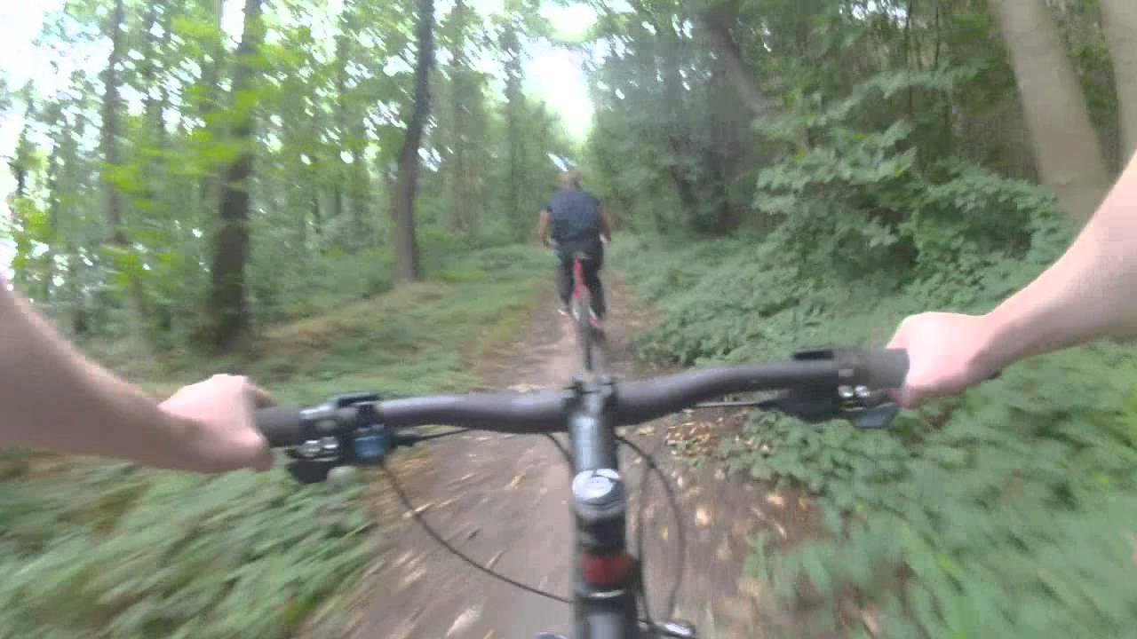 Sherwood Pines Red Route Mountain Bike Trail Youtube
