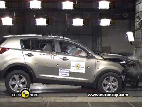 new euro ncap crash test kia sportage 2011 youtube. Black Bedroom Furniture Sets. Home Design Ideas
