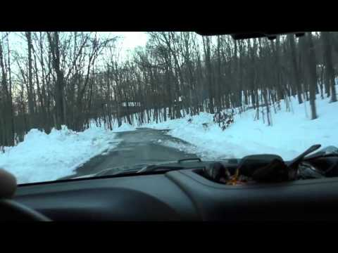 Snowy Drive In The Mountains of Coolfont, Berkeley Springs WV