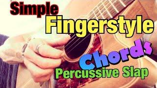 Finger-style Guitar Lesson 2 - Finger Picking Over Basic Chords