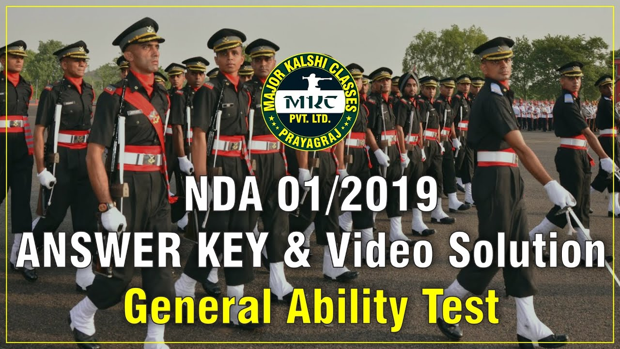 NDA 1 2019 GAT answer key & Solution