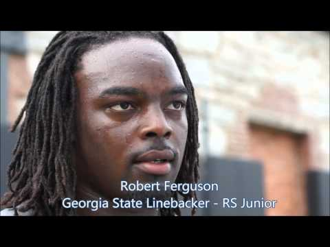 GSU Football - Linebacker Robert Ferguson 8-18-2012 Post Practice