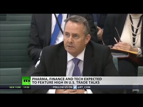 Liam Fox in £40bn trade talks deal with US