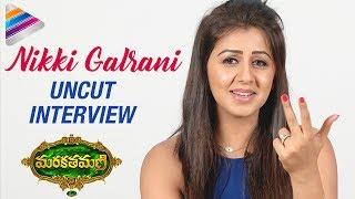Aadhi Irritates Me a lot says Nikki Galrani | Marakathamani Telugu Movie | Nikki Galrani Interview