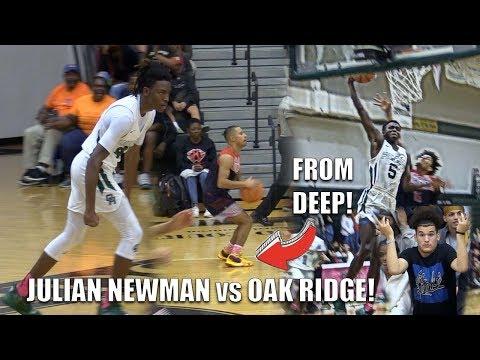 Julian Newman CAME TO PLAY vs Oak Ridge! Niven Glover  & CJ Walker DUNK SHOW!!! BCA Classic