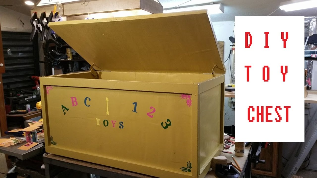 Homemade Toy Chest Diy Toy Box