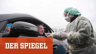 Coronavirus in Deutschland: Erste Drive-in-Teststation