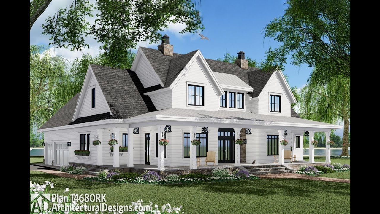 best farmhouse plans architectural designs modern farmhouse plan 14680rk virtual tour youtube 4700