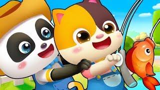 Once I Caught a Fish | Nursery Rhymes | Jobs Song | Kids Songs | Kids Cartoon | BabyBus