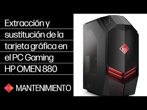 Extracción y sustitución de la tarjeta gráfica en el PC Gaming HP OMEN 880 | HP OMEN | HP