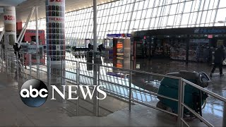 Burst pipe at JFK adds to airport chaos