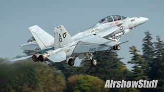 US Navy F/A-18F Super Hornet Demo (No Music) 2017