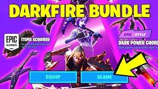 *NEW* Fortnite DARKFIRE Bundle *RIGHT NOW* (HOW TO GET IT & DARKFIRE SKINS, DARK POWER CHORD)