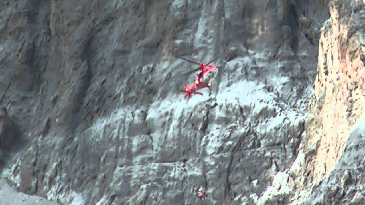 Klettersteig Sulzfluh : Rettung mit rega an der sulzfluh youtube