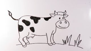 cow draw easy