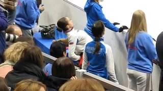 Утренняя тренировка 20.01.18. Alina ZAGITOVA,  Evgenia MEDVEDEVA, Maria SOTSKOVA. EC 2018