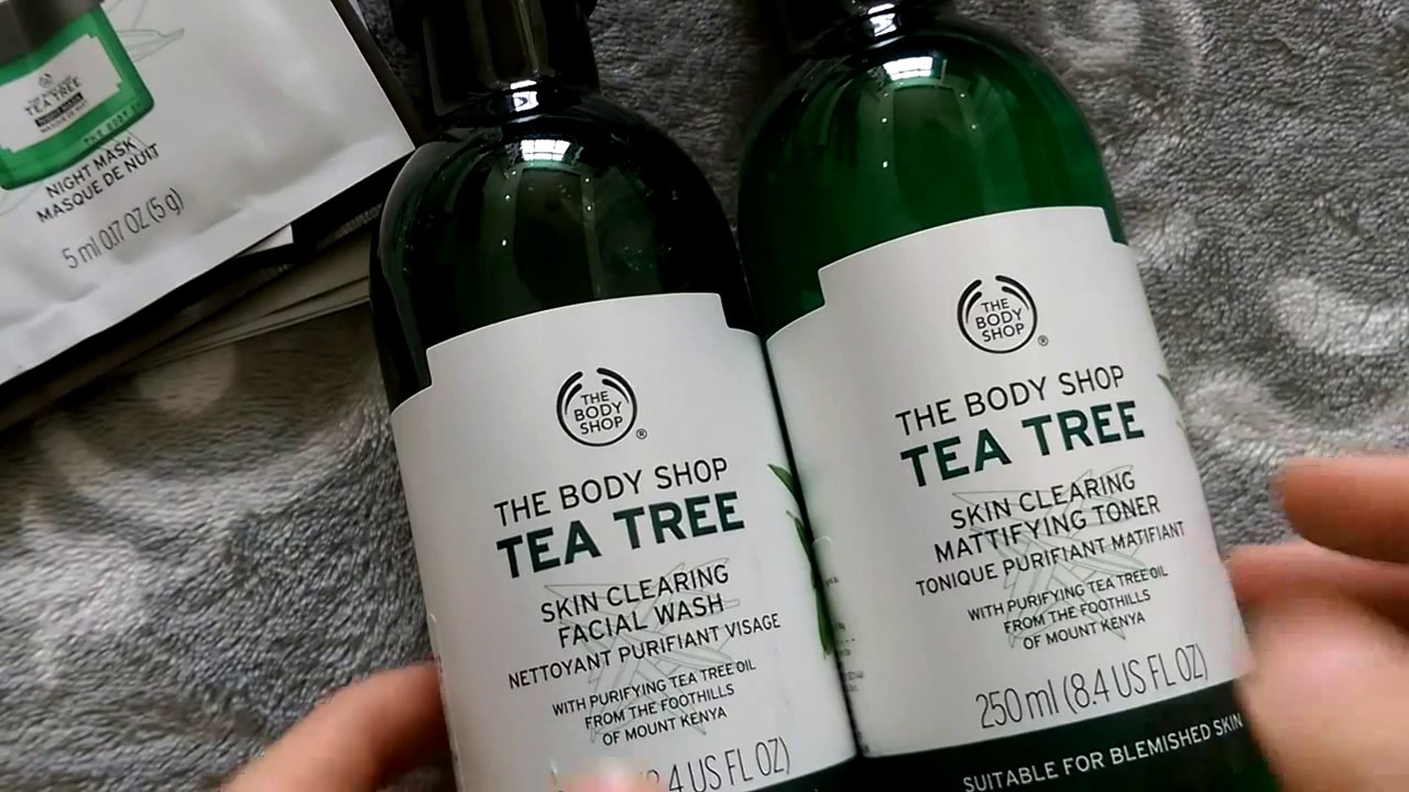 The Body Shop | Sữa Rửa Mặt & Toner Dòng Tea Tree | Da Dầu