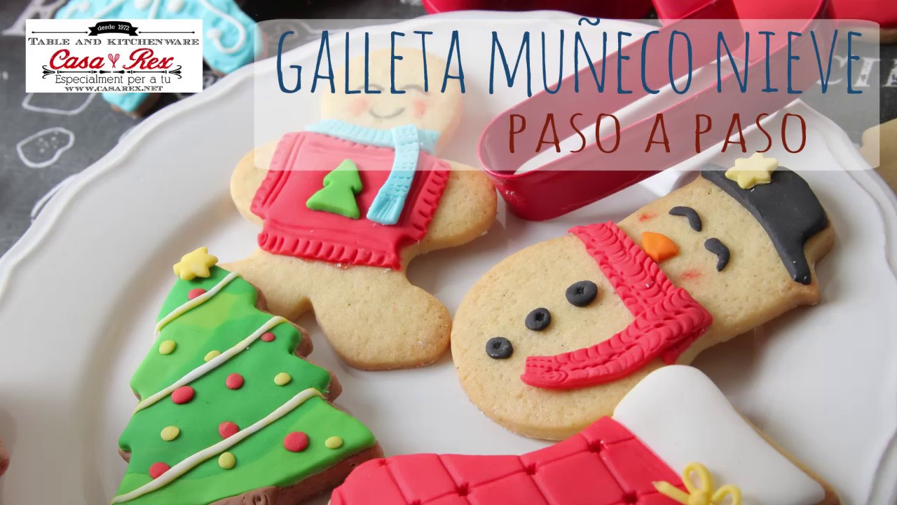 Tutorial Decoración Galleta Muñeco De Nieve Con Fondant