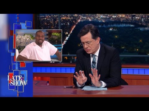 Watch Stephen Colbert Riff on Kanye West's Epic 'Ellen' Rant