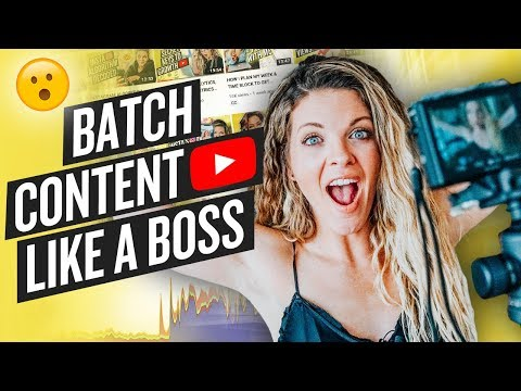 BATCH CONTENT: 6 WEEKS OF YOUTUBE CONTENT IN 6 HOURS (TIME SAVERS!)