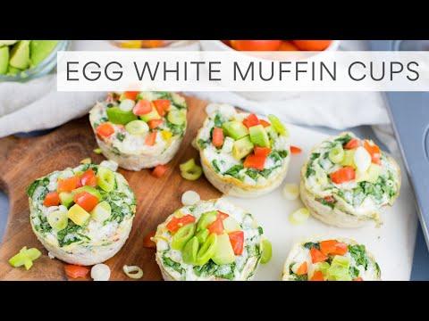 EGG WHITE MUFFINS | Easy Breakfast Meal Prep
