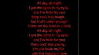 Lessons in Love - Neon Trees Feat. Kaskade (Lyrics on screen)