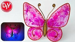 Светильник из эпоксидной смолы Бабочка