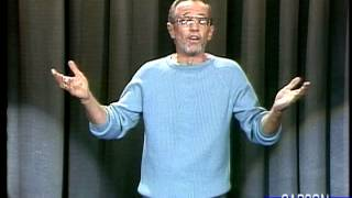 George Carlin Stand Up Comedy Routine on Johnny Carson's Tonight Show, 1986