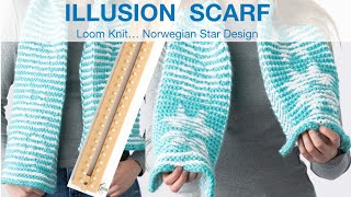 VIDEO CLIP - CAST ON - Norwegian Star Illusion Scarf on KB all-in-one 5/8 gauge loom