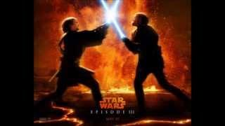 -Star Wars III- theme song Anakin Skywalker vs Obi wan Kenobi.