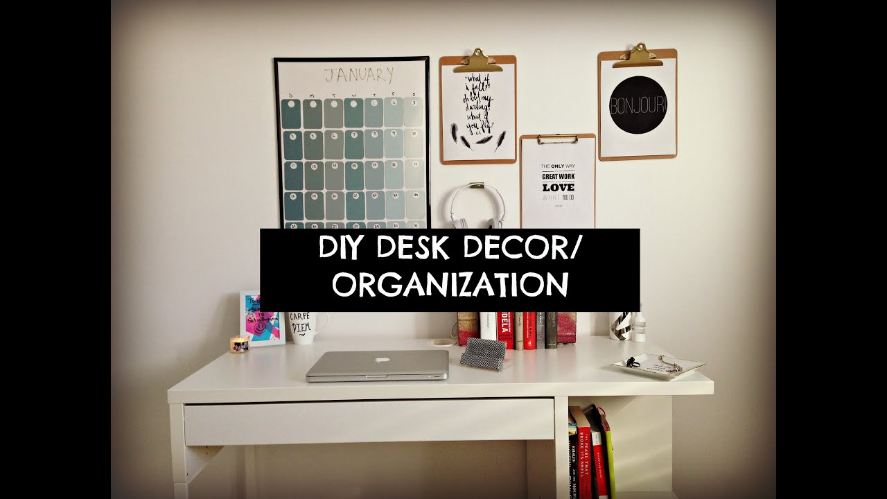 Cute cheap and easy diy desk decor organization youtube for Creative of decoration ideas for office desk