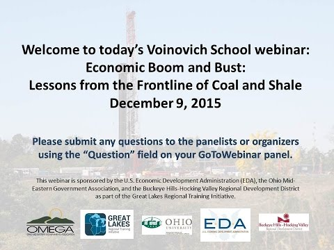 CE3 Webinar: Economic Boom and Bust: Lessons from the Frontline of Coal and Shale (12/15)