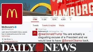 McDonald's Calls Donald Trump 'A Disgusting Excuse Of A President'