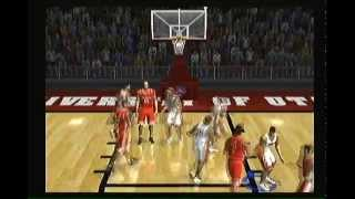 NCAA March Madness 2002 Basketball PS2 Intro Gameplay