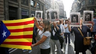 Protests in Barcelona after court verdict on Catalan pro-independence leaders