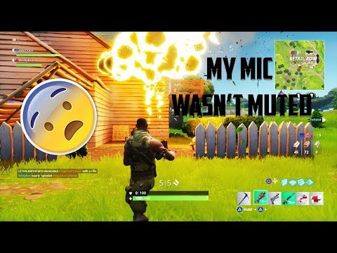 MY MIC WASN'T MUTED (embarrassing) | Fortnite Funny Moments