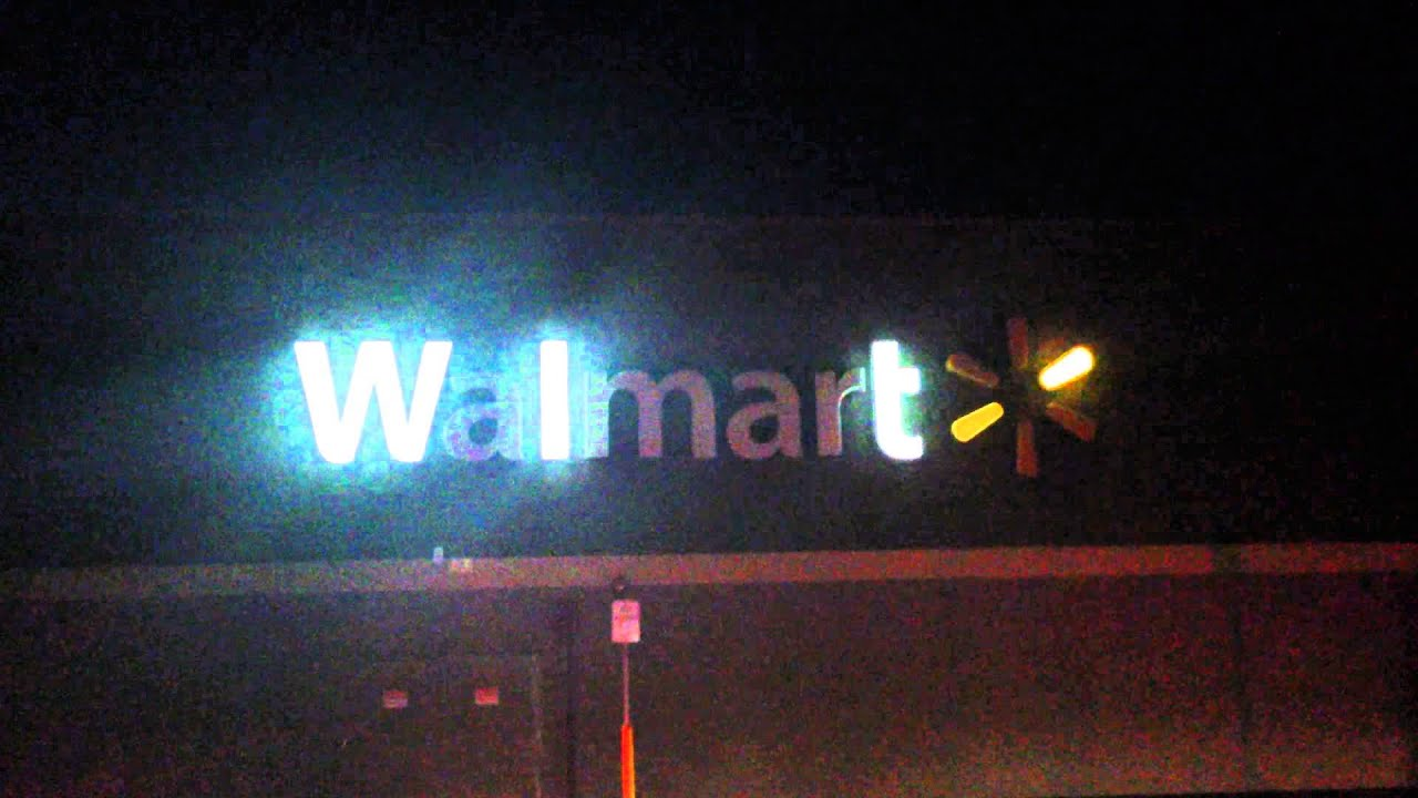 This is what happens when the power goes out at Walmart