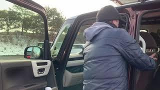 拝見となりのNBOX「車中泊に関心がある人はぜひみて欲しい」らんぷらさんのスロープNBOX thumbnail