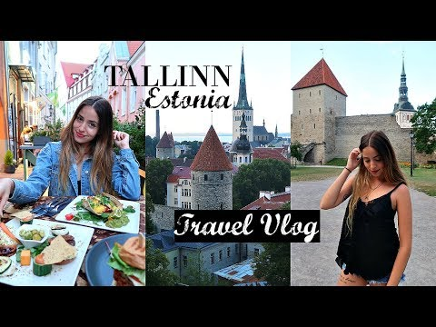 Exploring Tallinn's Old Town + Vegan Food // Estonia Travel Vlog