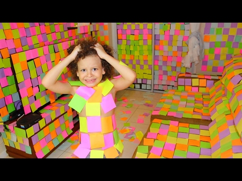 Thumbnail: TROLLEI MINHA VÓ COBRINDO A SALA DE POST-IT