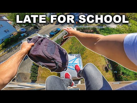 LATE FOR SCHOOL - Parkour POV