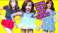 TRYING ON MY BABY CLOTHES!