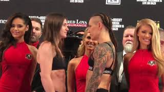 Katie Taylor vs Eva Wahlstrom FACE OFF at WEIGH IN